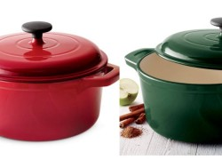 Enameled Cast Iron Round Dutch Oven ONLY $29 SHIPPED! WOW!