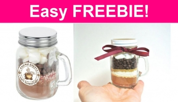 Hot Chocolate Kit in Mini Glass Mason Jar! SO CUTE!