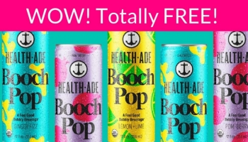 Totally FREE Can of Health Ade Pop! Easy !