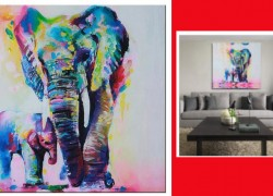 Home Wall Art Painting Elephant Canvas ONLY $9.89 ! ( Reg. $132.00 )