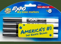 Low-Odor Dry Erase Markers 4-Count ONLY $1.99