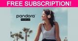 Free Pandora Premium 3-Month Subscription!