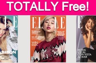 Free Subscription to Elle Magazine!