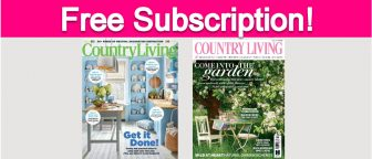 Free Subscription to Country Living Magazine!