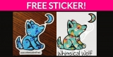 Free Whimsical Wolf Sticker!