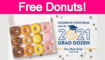 Free Krispy Kreme Donuts for 2021 Grads!