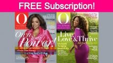 Free Subscription to O, The Oprah Magazine!