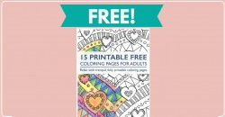 15 FREE Adult Coloring Pages!