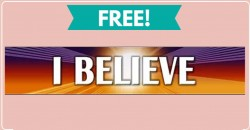 """FREE """" Believe """"  Sticker in the mail !"""