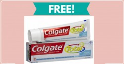 Totally FREE FULL SIZE Colgate Toothpaste !