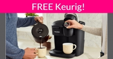 FREE Keurig K-Duo Essentials Coffee Maker!