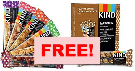 Totally FREE FULL SIZE Kind Bar ! FREE Food Sample!