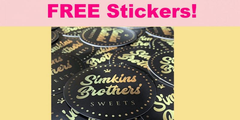FREE Simkins Brothers' Sweets Sticker!
