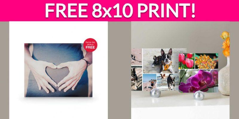 FREE 8×10 Print at CVS