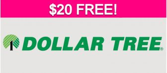 $20 FREE at Dollar Tree!
