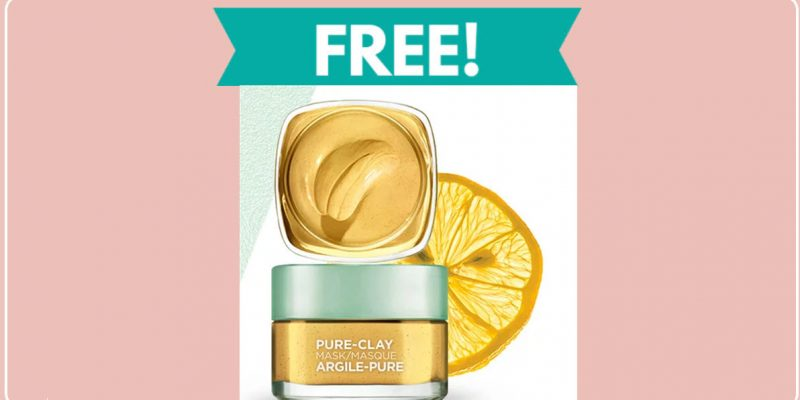 FREE sample By Mail of L'Oreal Pure-Clay Mask