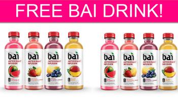 FREE Bai Drink! Easy Deal!
