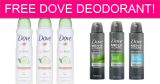 FREE Dove Deodorant By Mail!