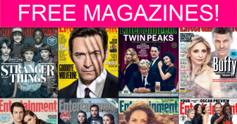 FREE Entertainment Weekly Subscription! *No Bill Ever*