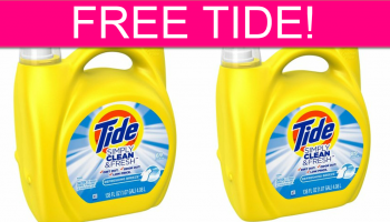 TOTALLY FREE Tide Simply Detergent!