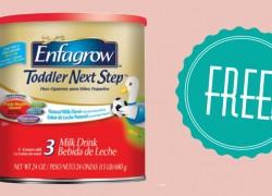 FREE Enfagrow Toddler Next Step Sample