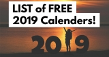 14 Place To Get FREE 2019 Calendars!