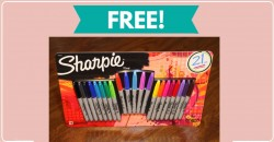 FREE 21-Pack of Sharpie Markers