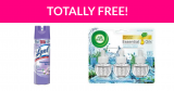 Free Air Wick or Lysol Products by Mail!