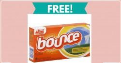 FREE Bounce Fabric Softner !