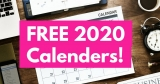 HUGE List of FREE 2020 Calender's by Mail !