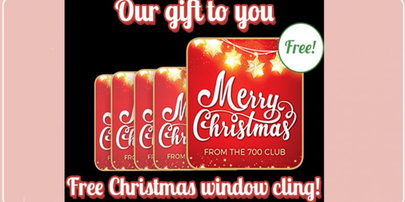 SUPER Easy FREE Christmas Window Cling !