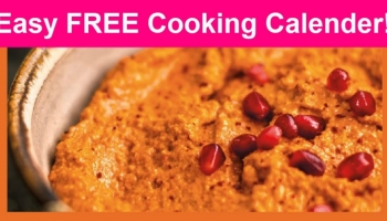 SUPER EASY ! Totally FREE Cooking Calendar by Aramco World!
