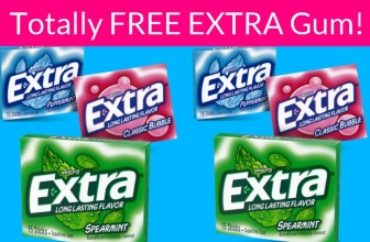Totally FREE Extra Gum! Super Easy!
