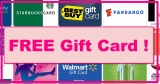 Get a Free Gift Card !