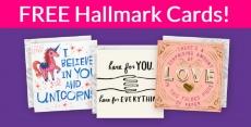 3 FREE Hallmark Cards = FREE Shipping too!