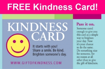 Awww! Love this! FREE Kindness Cards.