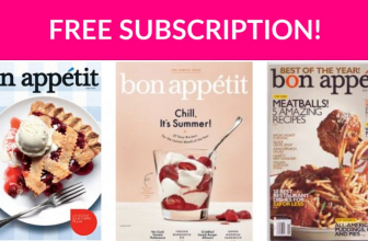 Free Subscription to Bon Appetit!