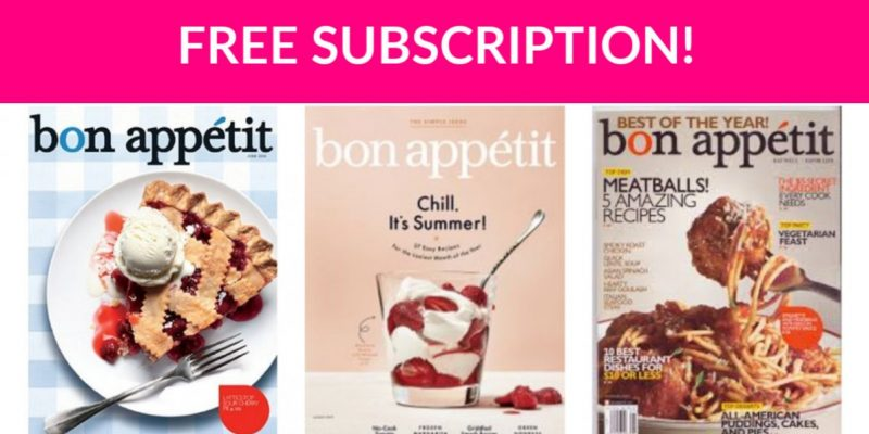 Free Subscription to Bon Appetit!