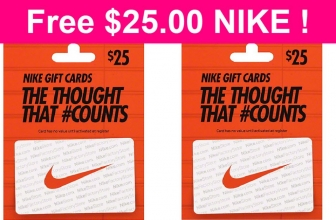 Totally FREE! $25 to Spend at Nike!