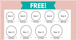 Free Ring Sizer Chart from Amazon!