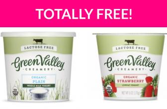Free Cup of Green Valley Creamery Yogurt!