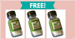 Free Sample By Mail of Stevia Sweet!