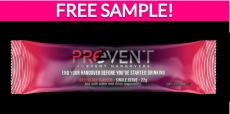 Free Sample by Mail of Prevent Hangover Recovery Drink!