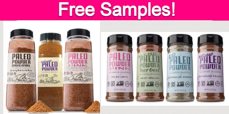 Free Samples by Mail from Paleo Powder Foods!