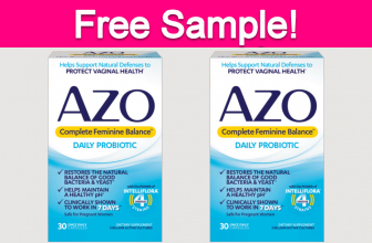 Free Sample by Mail of AZO Complete Feminine Balance!