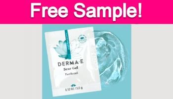 Free Sample by Mail of Derma e Scar Gel!
