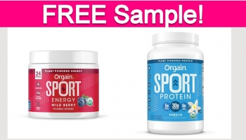 Free Sample by Mail of Orgain Protein Powder!