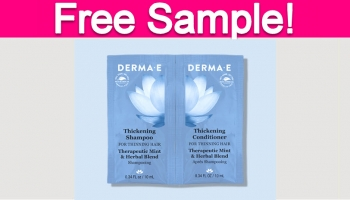 Free Sample of Derma E Thickening Shampoo & Conditioner!