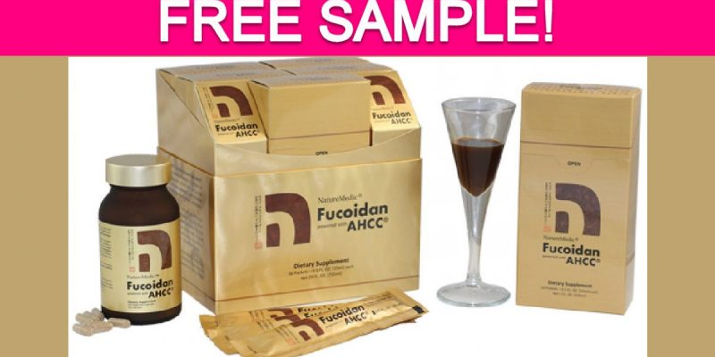 Free Sample by Mail of NatureMedic Fucoidan!