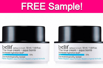 Free Sample by Mail of belif Face Moisturizer!